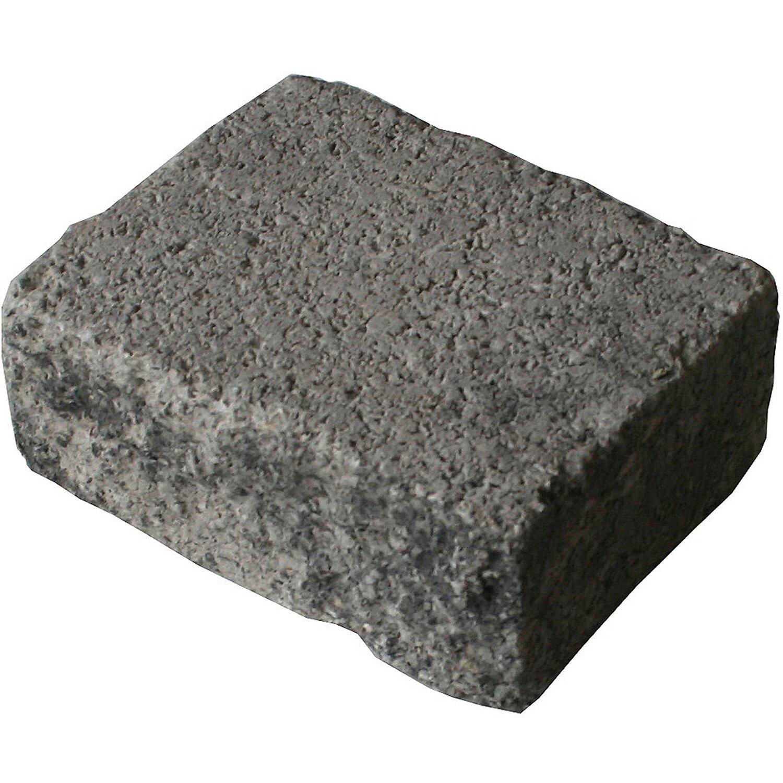 Sonstige Antik Mauerstein Grau-Anthrazit-Nuanciert  25 cm x 20 cm x 10 cm