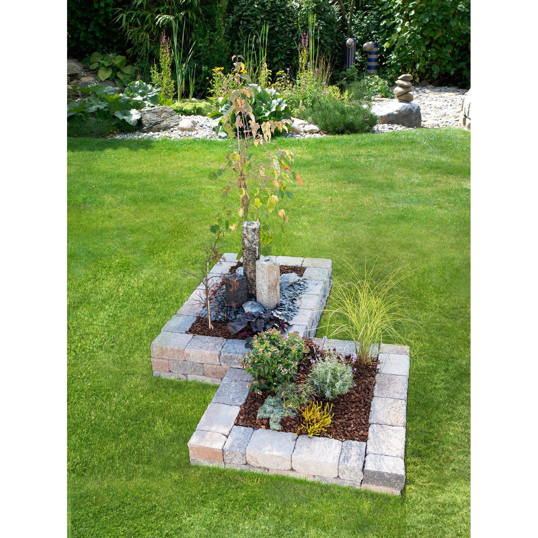 Garten Randsteine Obi: Blumenbeet Muschelkalk 2-fach 240 Cm X 170 Cm X 30 Cm