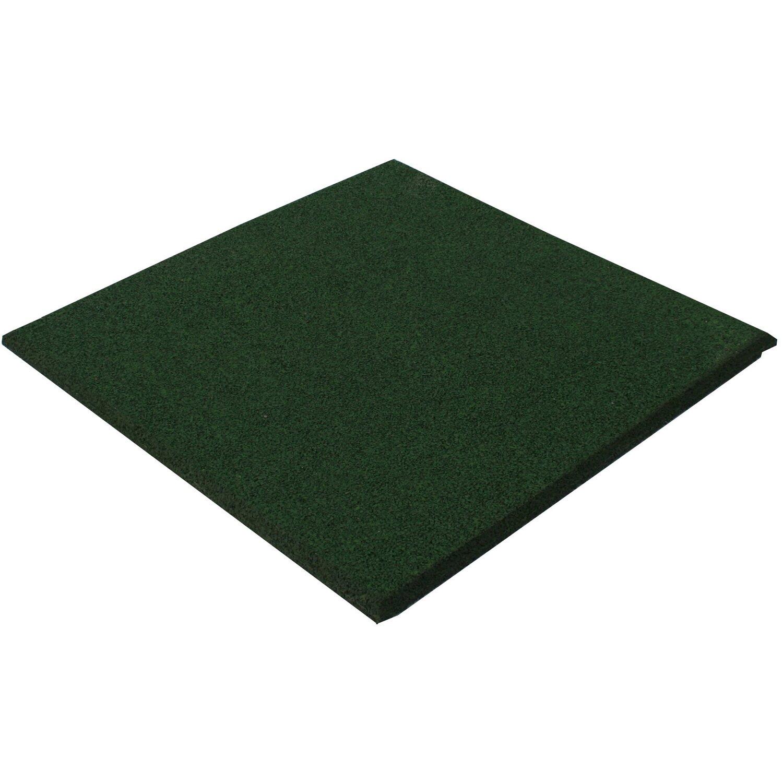 Sonstige Fallschutzplatte/Elastikmatte Grün 50 cm x 50 cm x 2,5 cm Stärke