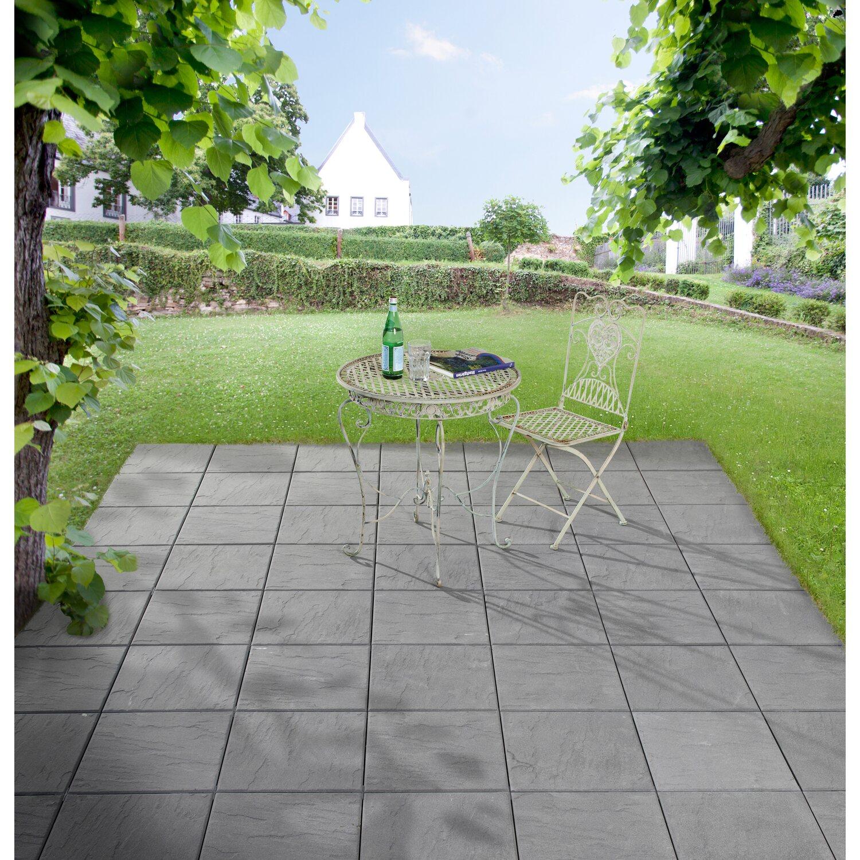 Pflanzkubel Beton Obi ~ Terrassenplatte beton anthrazit cm