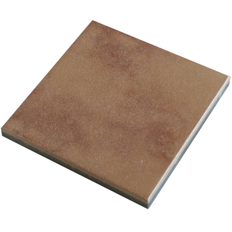 Sonstige Mesafinoplatte Beige-Rot 40 cm x 40 cm x 4 cm