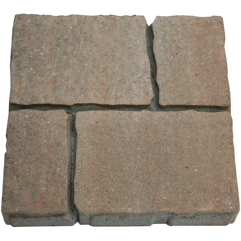 Sonstige Pianellaplatte Grau-Braun-Nuanciert 40 cm x 40 cm x 6 cm