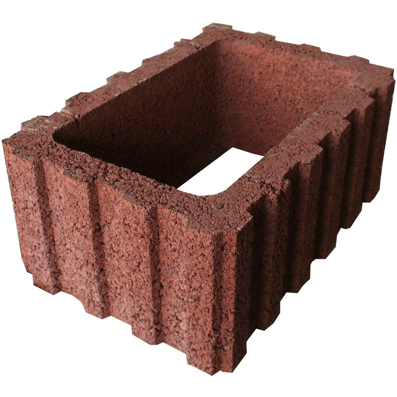 ratioflor pflanzstein braun 60 cm x 40 cm x 25 cm kaufen bei obi. Black Bedroom Furniture Sets. Home Design Ideas
