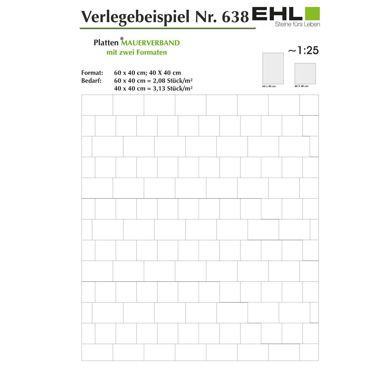 Terrassenplatte Beton Mesafino Grau beschichtet 40 cm x 40 cm x 4