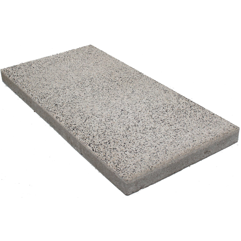 Terrassenplatte Sestino Beton XL Weiß 80 cm x 40 cm x 5 cm