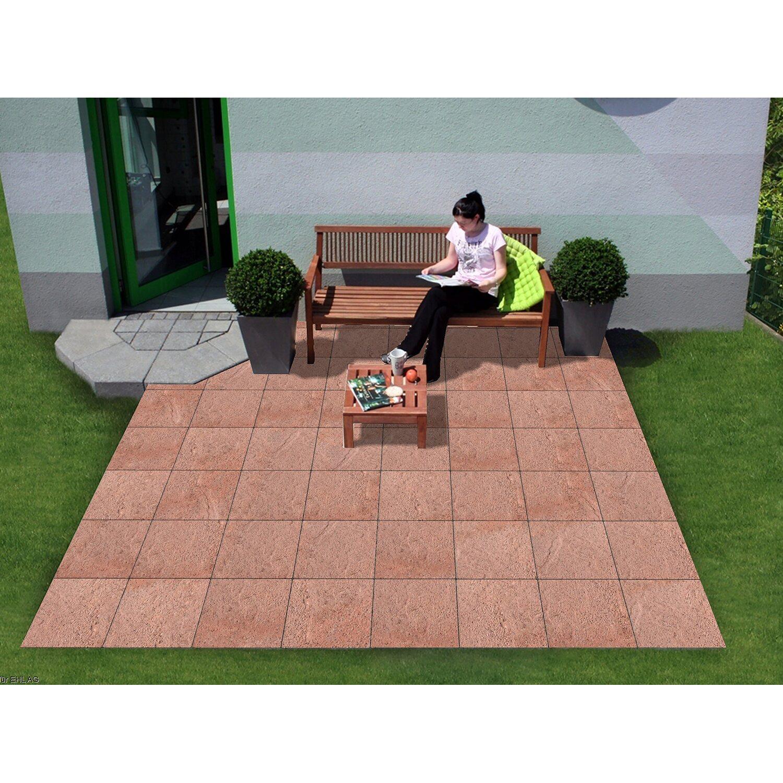 Gehwegplatten Rot Terrassenplatten Rot Online Kaufen Bei OBI - Rote gehwegplatten 50x50