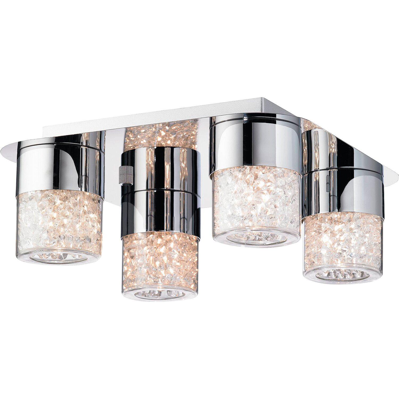 deckenleuchte glas mit kristallf llung eek c kaufen bei obi. Black Bedroom Furniture Sets. Home Design Ideas