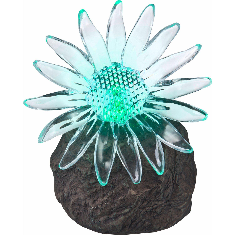 Globo Solarstein Blume mit Farbwechsler