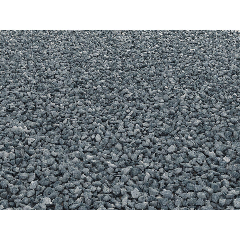 25 kg Basaltsplitt Schwarzgrau anthrazit Ziersplitt Splitt Basalt Zierkies