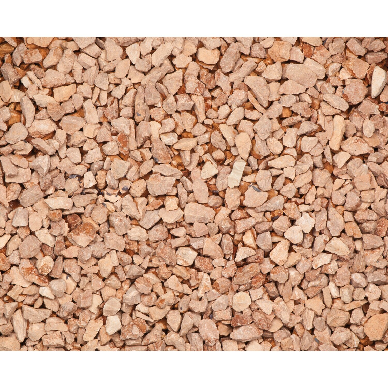 Marmorsplitt verona rot 15 mm 25 mm 25 kg sack kaufen for Obi zierkies