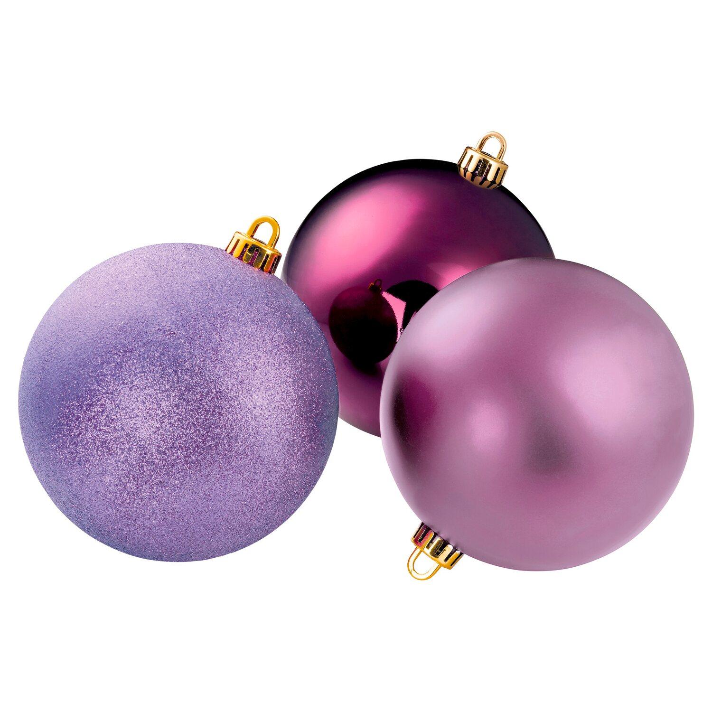 Weihnachtskugeln Xxl.Xxl Christbaumkugel 14 Cm Lila Kaufen Bei Obi