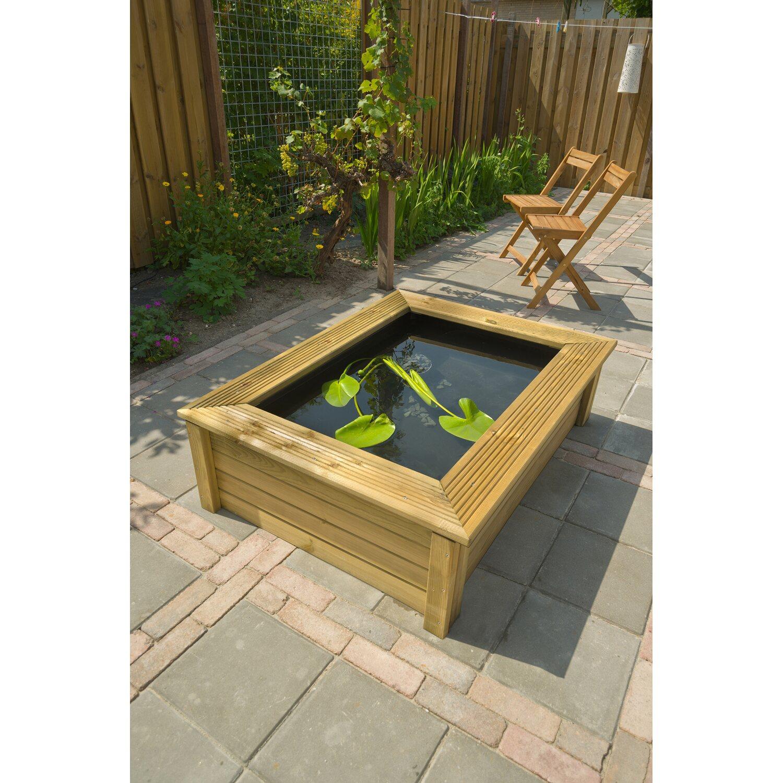 Ubbink Teich-Holzumrandung Quadro Wood II Natur für Victoria Quadro 6 | Garten > Teiche und Zubehör | Ubbink