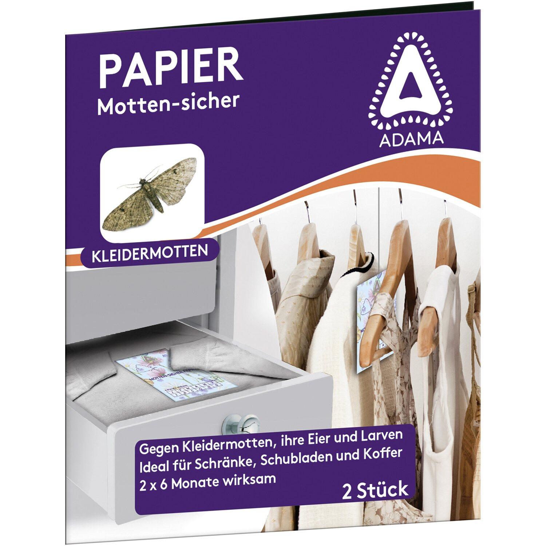 Adama  Motten-Sicher Papier 2 x 5 Papierstreifen