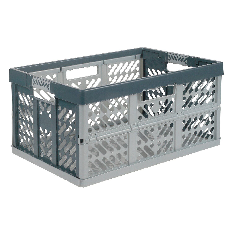 klappbox mit softgriff silber anthrazit 45 l kaufen bei obi. Black Bedroom Furniture Sets. Home Design Ideas