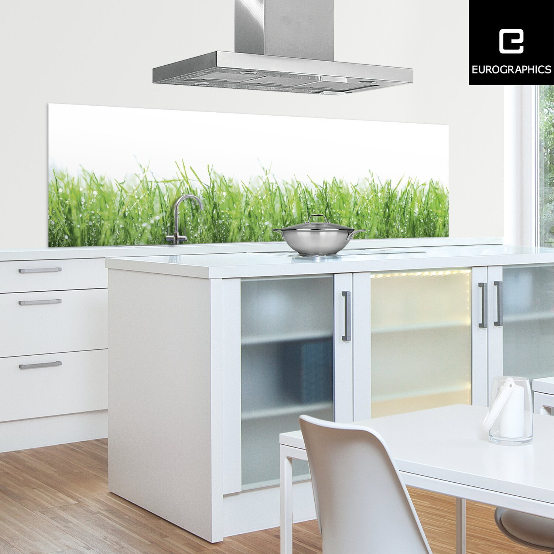 Küchenrückwand 60 Cm X 200 Cm Alu Dibond Drops On Green Gras Kaufen Bei Obi