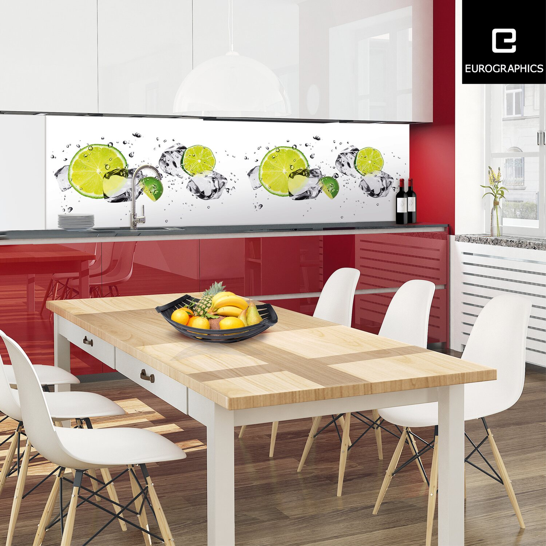 Küchenrückwand 60 cm x 200 cm Alu Dibond Lemo