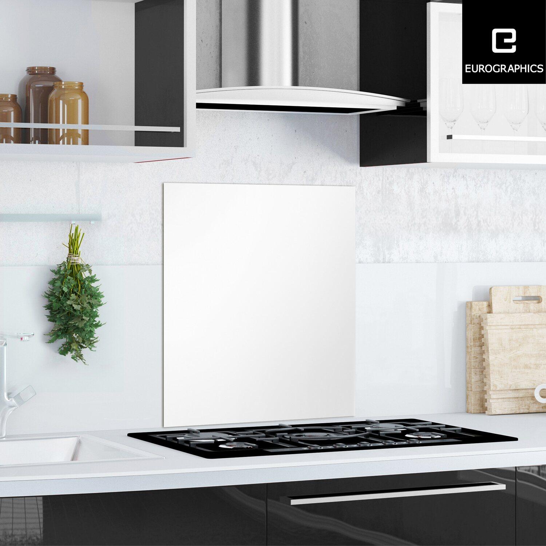 Küchen Glas Spritzschutz 60 cm x 65 cm White Splash Guard