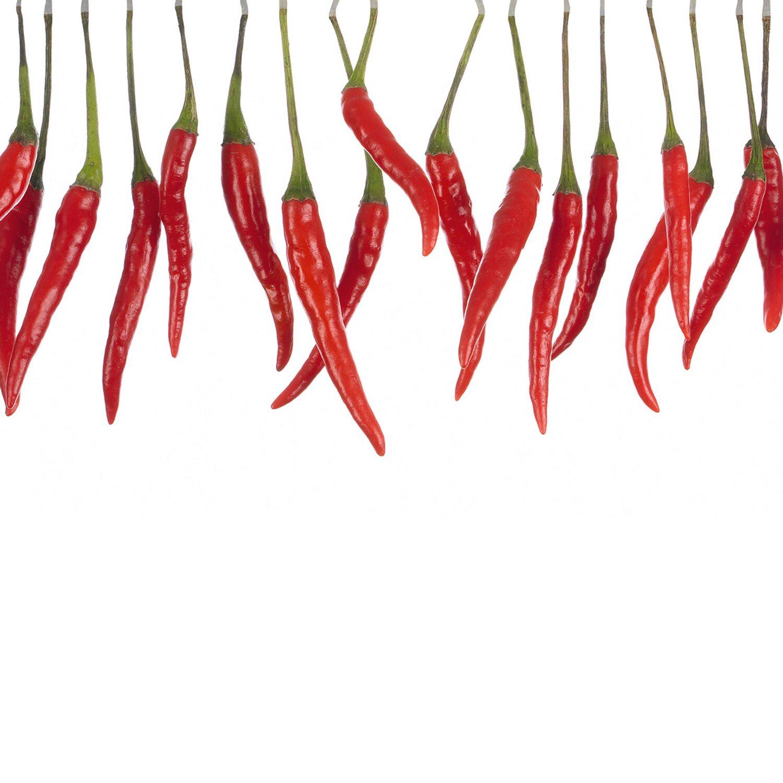 Kuche spritzschutz chili for Kuchenfliesen folie