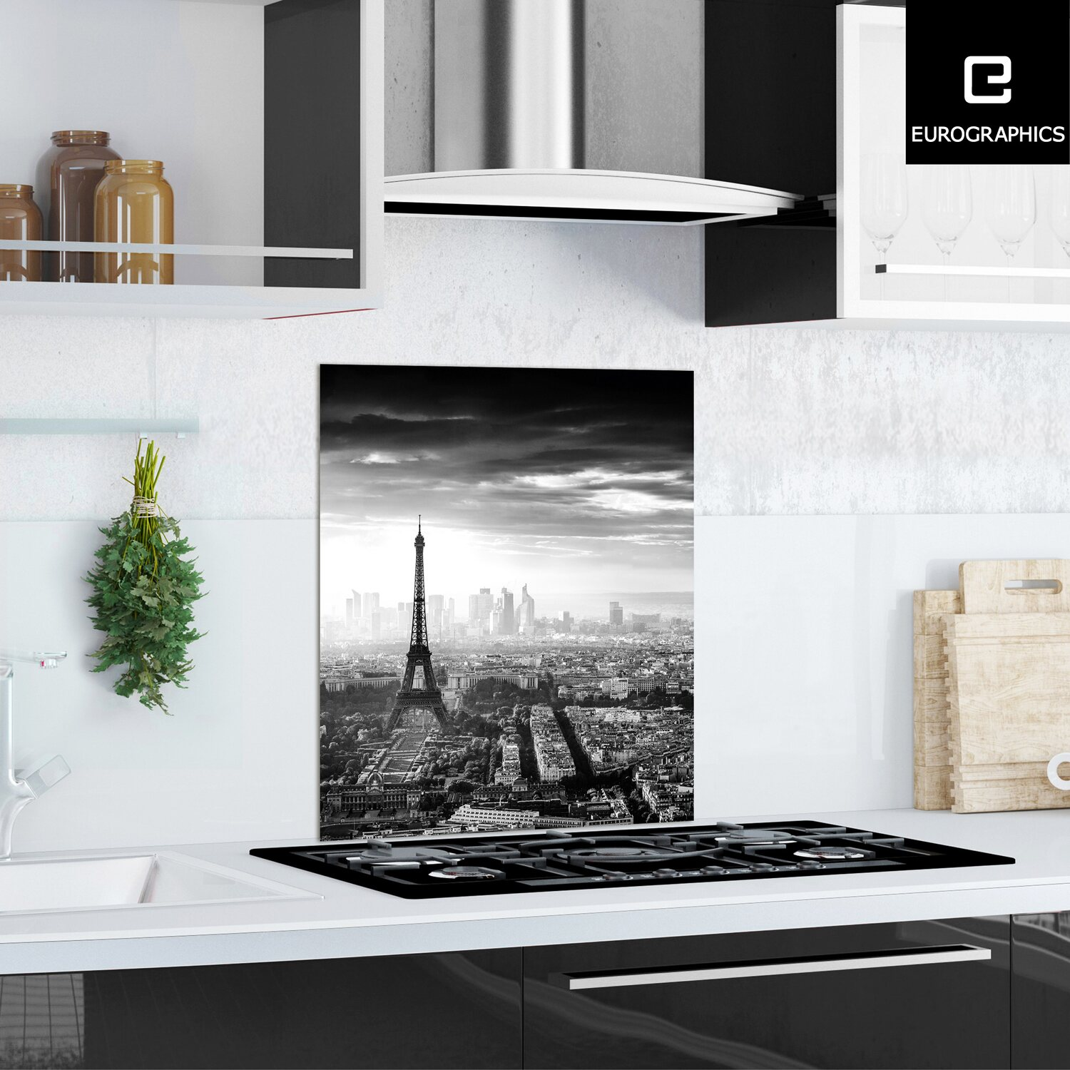 kitchen glas spritzschutz paris 60 cm x 65 cm kaufen bei obi. Black Bedroom Furniture Sets. Home Design Ideas