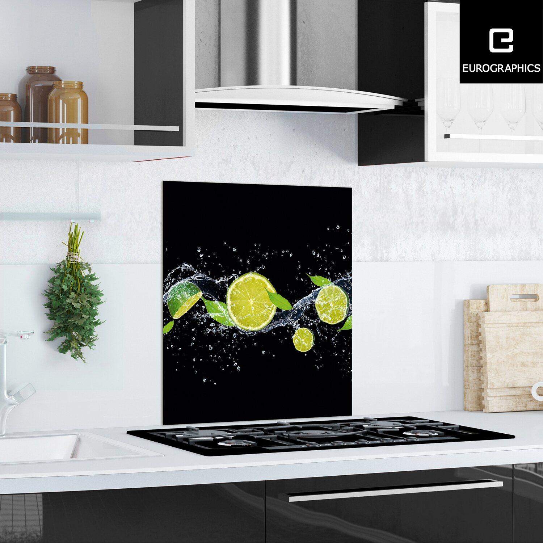 kitchen glas spritzschutz fresh lime diving 60 cm x 65 cm kaufen bei obi. Black Bedroom Furniture Sets. Home Design Ideas