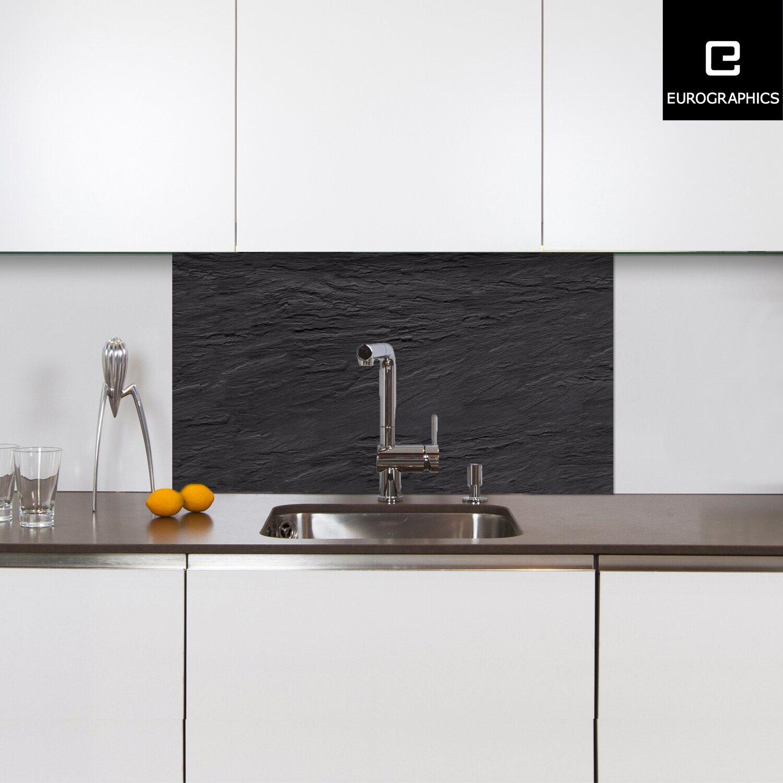 kitchen glas spritzschutz black slate 50 cm x 90 cm kaufen bei obi. Black Bedroom Furniture Sets. Home Design Ideas