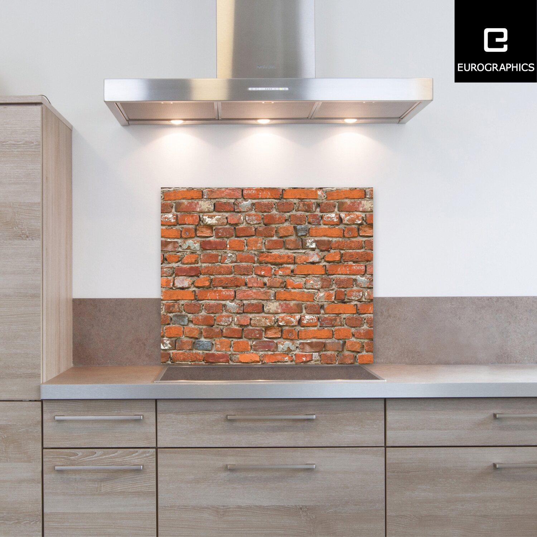kitchen glas spritzschutz vintage brick wall 50 cm x 60 cm kaufen bei obi. Black Bedroom Furniture Sets. Home Design Ideas