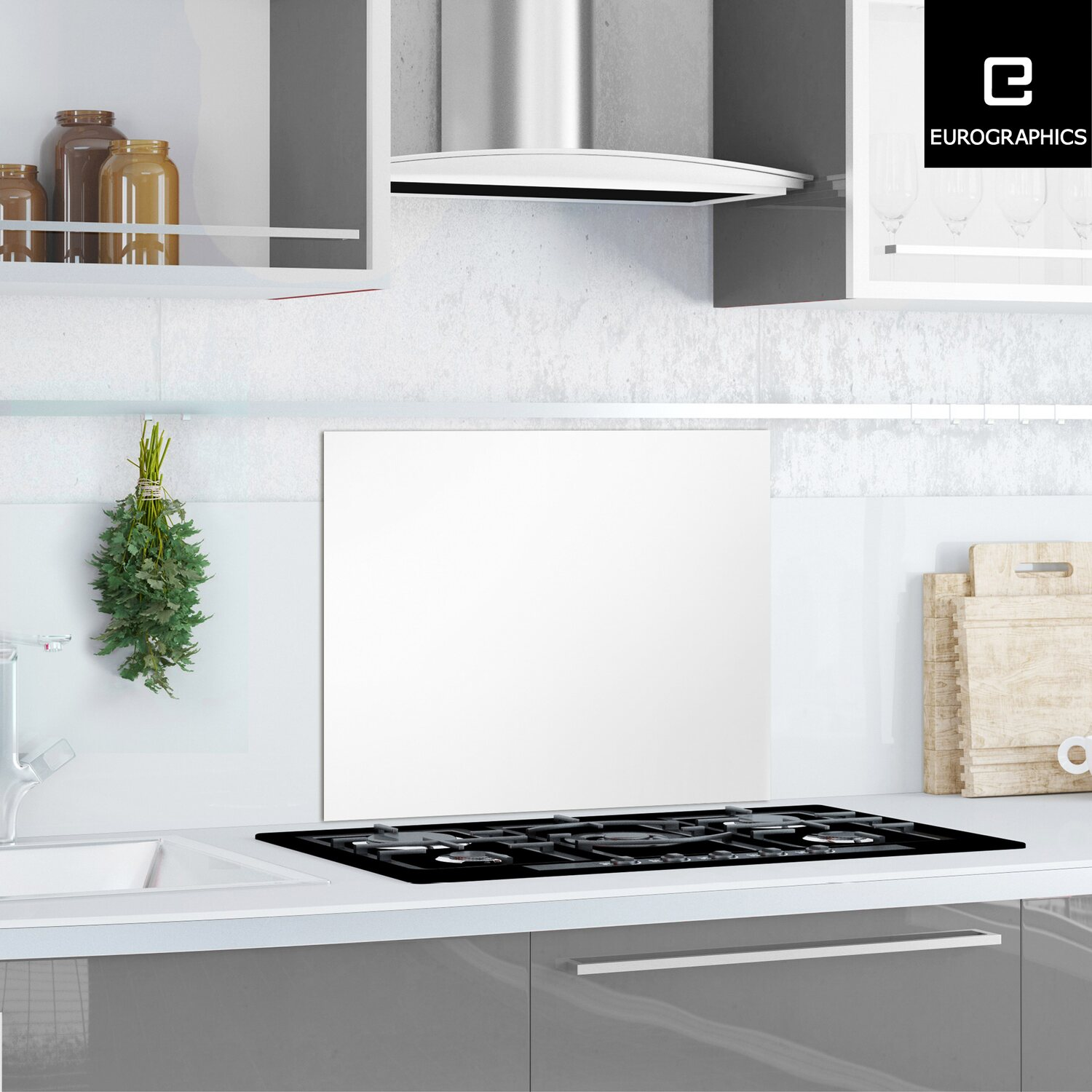 kitchen glas spritzschutz white splash guard 50 cm x 60 cm kaufen bei obi. Black Bedroom Furniture Sets. Home Design Ideas
