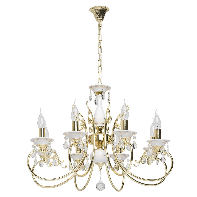 kronleuchter antik 8 flammig wei gold eek e a kaufen. Black Bedroom Furniture Sets. Home Design Ideas