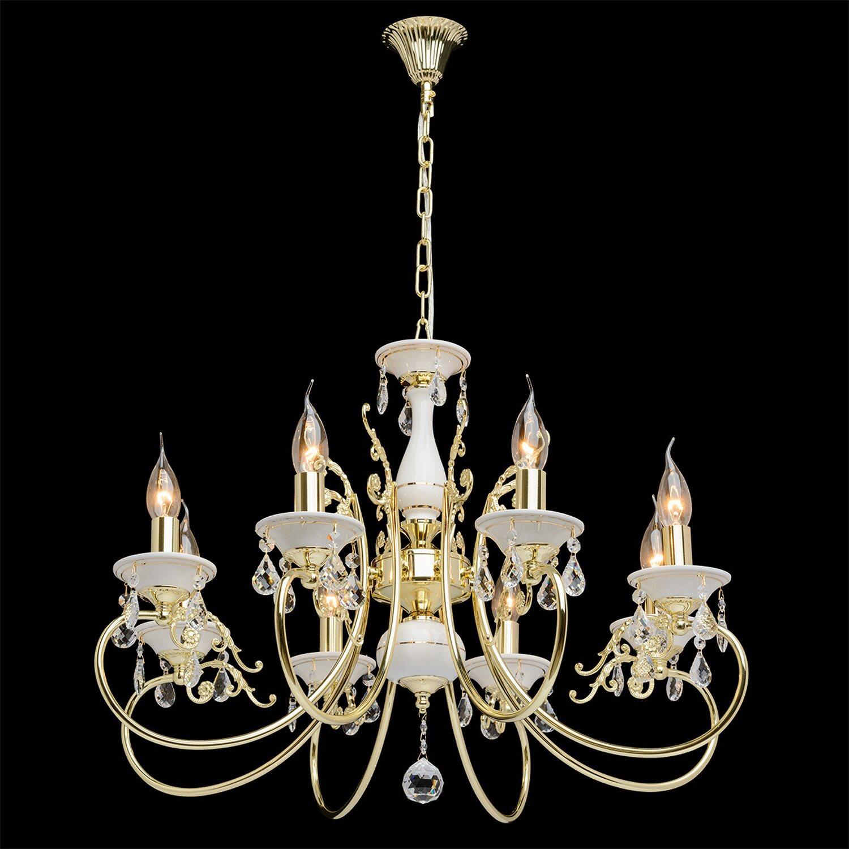 kronleuchter antik 8 flammig wei gold eek e a kaufen bei obi. Black Bedroom Furniture Sets. Home Design Ideas