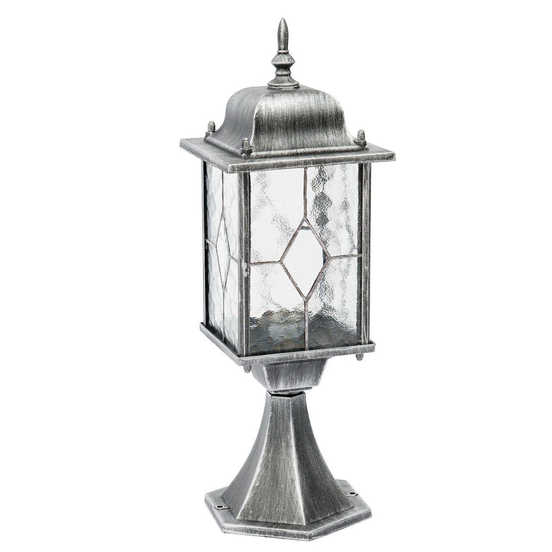 MW Light Außenleuchte EEK: E-A++ Burgos Schwarz-Silber H: 48 cm