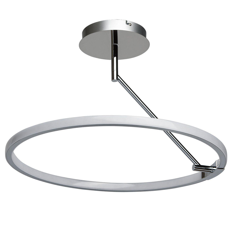 led deckenleuchte plattling chrom 58 cm eek a a kaufen bei obi. Black Bedroom Furniture Sets. Home Design Ideas