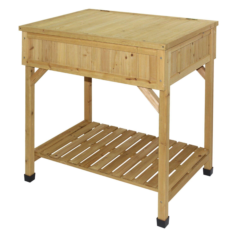 hochbeet mit pflanztisch 80 cm x 78 cm x 58 cm kaufen bei obi. Black Bedroom Furniture Sets. Home Design Ideas