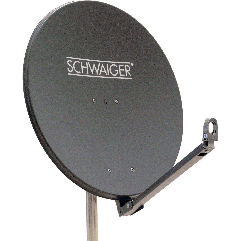 schwaiger aluminium satellitensch ssel parabolantenne 75 cm anthrazit kaufen bei obi. Black Bedroom Furniture Sets. Home Design Ideas