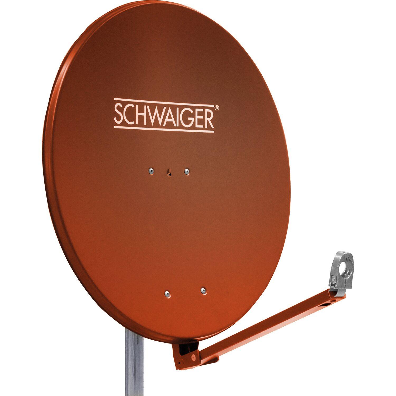 schwaiger aluminium satellitensch ssel parabolantenne 88 cm ziegelrot kaufen bei obi. Black Bedroom Furniture Sets. Home Design Ideas