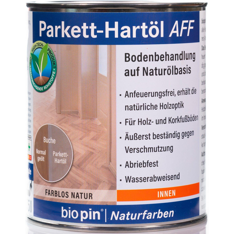 Biopin Parkett-Hartöl AFF Farblos 750 ml | Baumarkt > Bodenbeläge > Parkett | Biopin