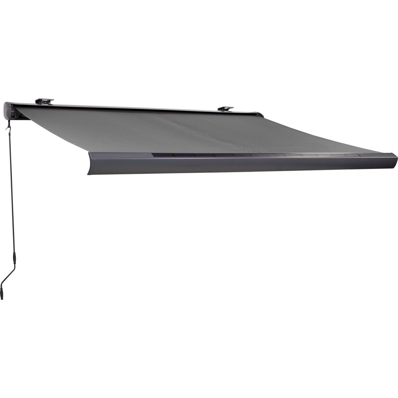 Zimmertüren anthrazit obi  OBI Solarbetriebene Vollkassettenmarkise 400 cm x 250 cm Anthrazit ...