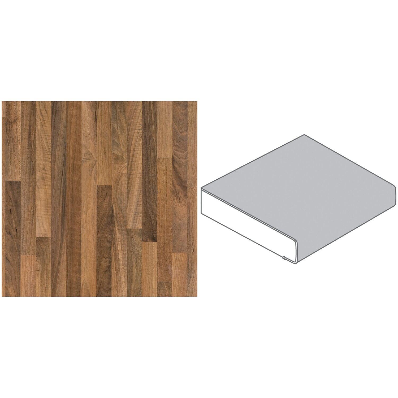arbeitsplatte 90 x 2 9 cm nussbaum butcherblock hell nu742 pof max 2 96 m kaufen bei obi. Black Bedroom Furniture Sets. Home Design Ideas