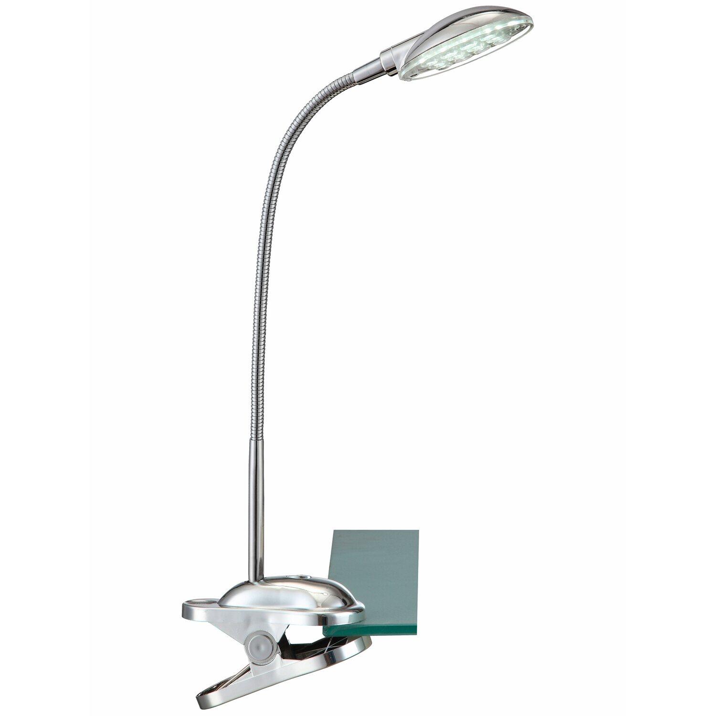 Globo LED-Klemmleuchte EEK: A mit Flexarm Chrom