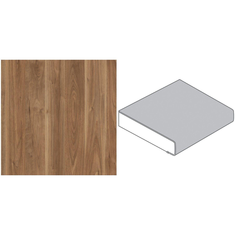 arbeitsplatte 90 x 3 9 cm nussbaum hell rustikal nu370 pof max 4 1 m kaufen bei obi. Black Bedroom Furniture Sets. Home Design Ideas