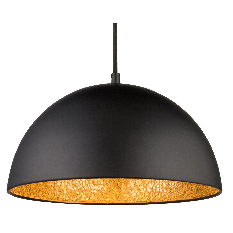 gold matt E27 Leuchtmittel Globo inkl Pendelleuchte // Hängelampe weiß matt