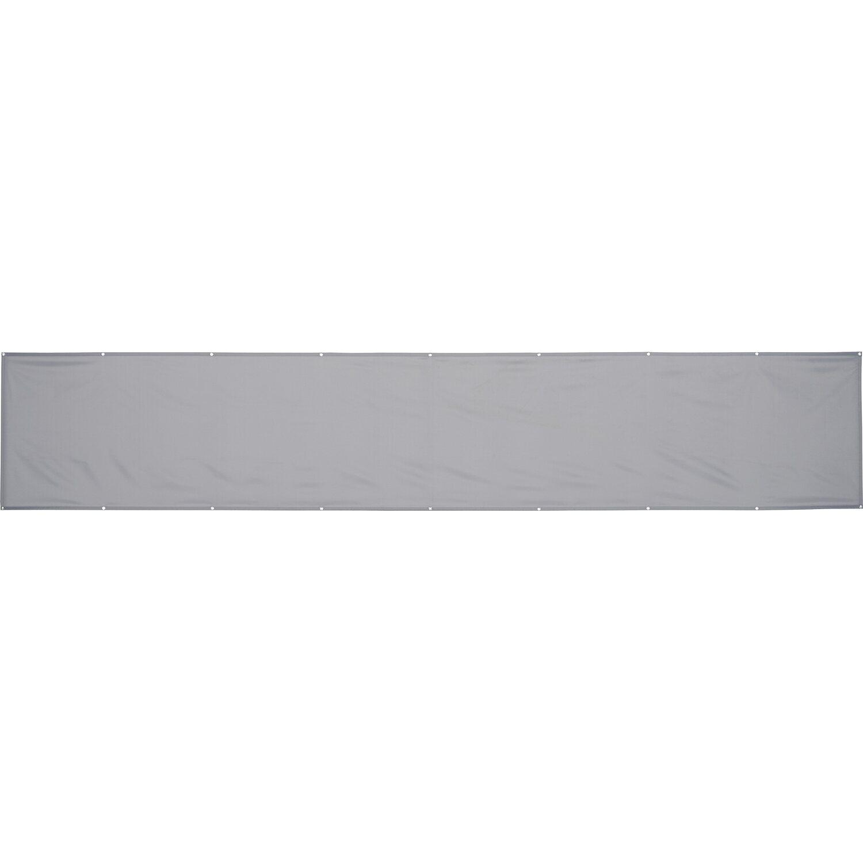 OBI Balkonsichtschutz Melville 90 cm x 500 cm Silbergrau kaufen