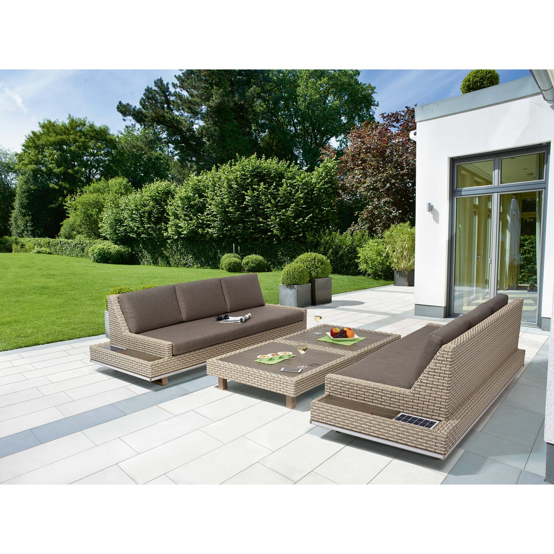 Gartenmöbel set rattan obi  OBI Aluminium Wicker Sofa Set Eton 4-teilig kaufen bei OBI