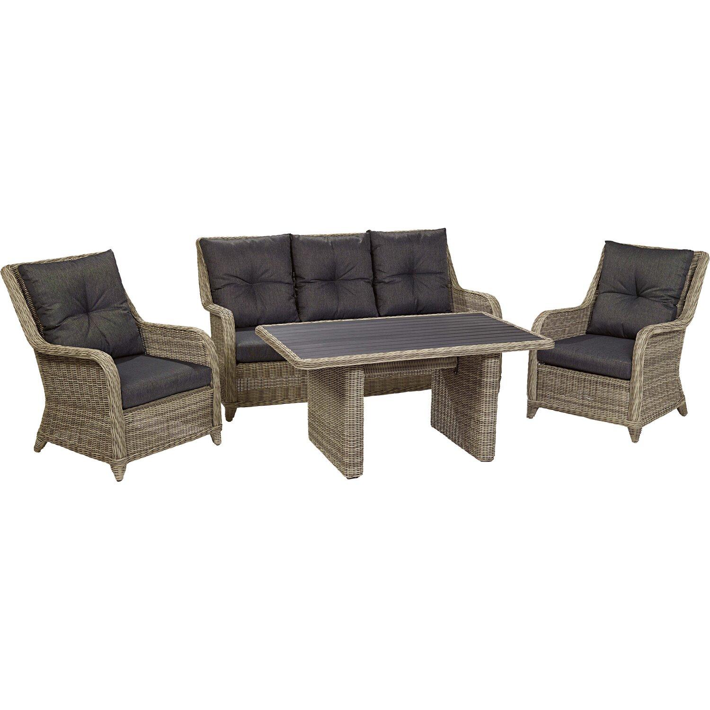 obi aluminium wicker esstischset oakdale 4 teilig kaufen bei obi. Black Bedroom Furniture Sets. Home Design Ideas