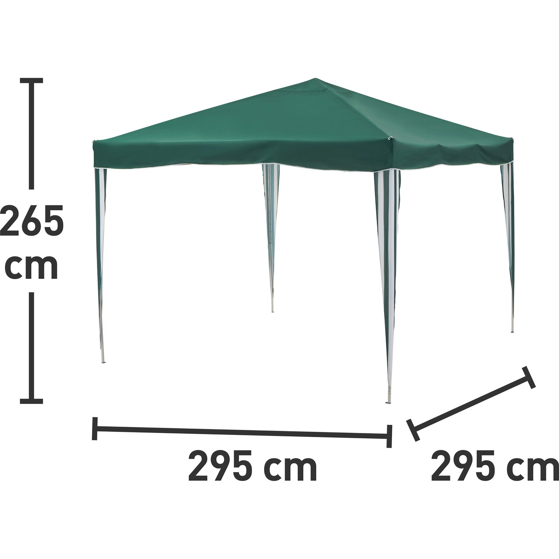 alu pavillon faltbar gr n 295 cm x 295 cm kaufen bei obi. Black Bedroom Furniture Sets. Home Design Ideas