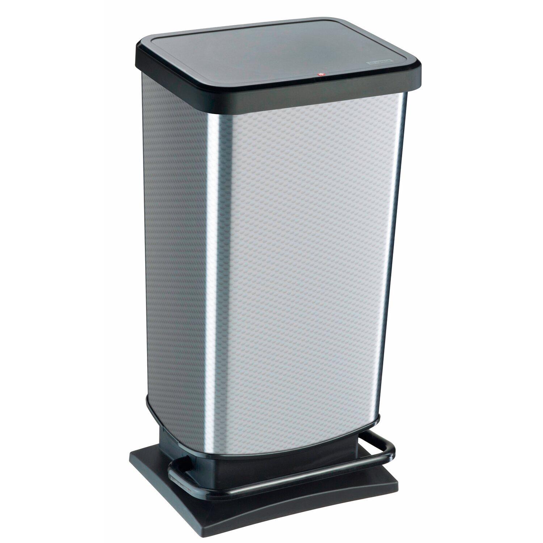 tret m lleimer paso 40 l metallic silber kaufen bei obi. Black Bedroom Furniture Sets. Home Design Ideas
