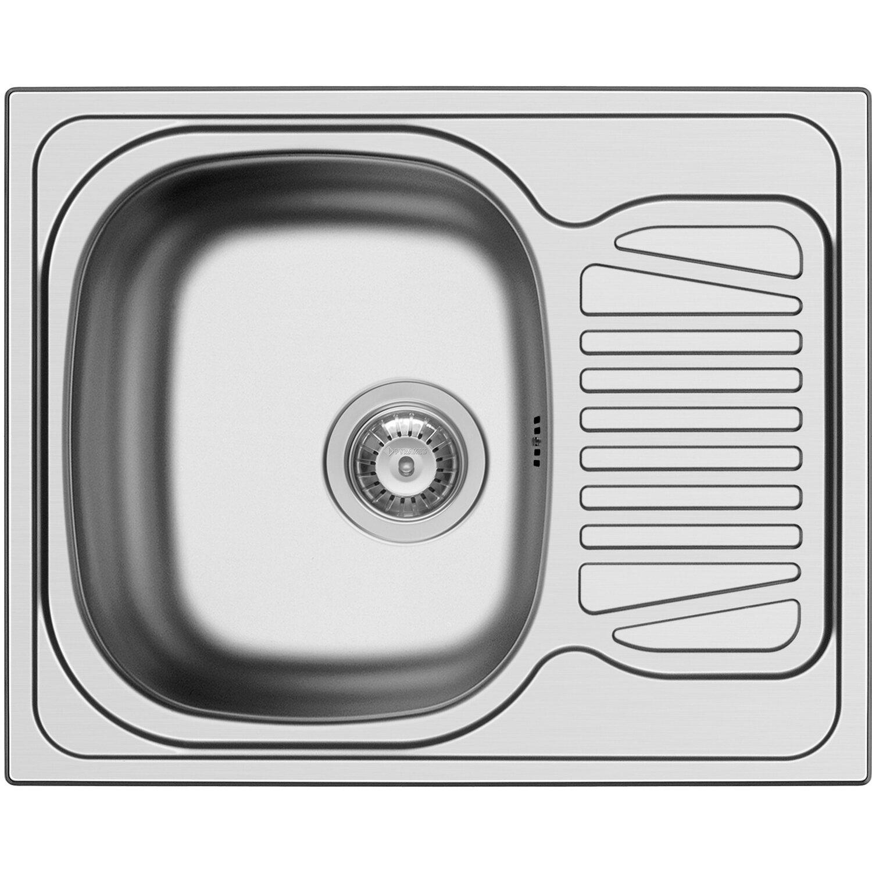 Küchenfreund Einbauspüle ES 511 Edelstahl Glatt   Küche und Esszimmer > Spülen > Einbauspülen   Silberfarben   Küchenfreund