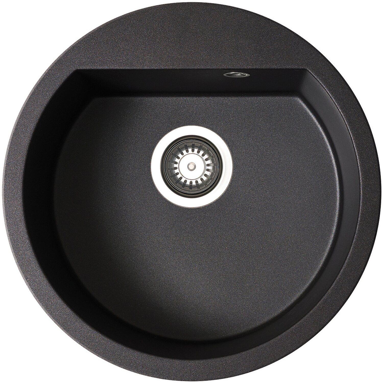 Küchenfreund Einbauspüle GN 101 Granite Carbon rund | Küche und Esszimmer > Spülen | Beige | Küchenfreund