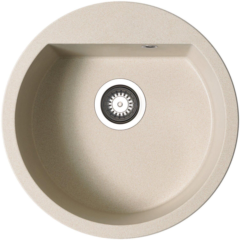 Küchenfreund Einbauspüle GN 101 Granite Beige rund