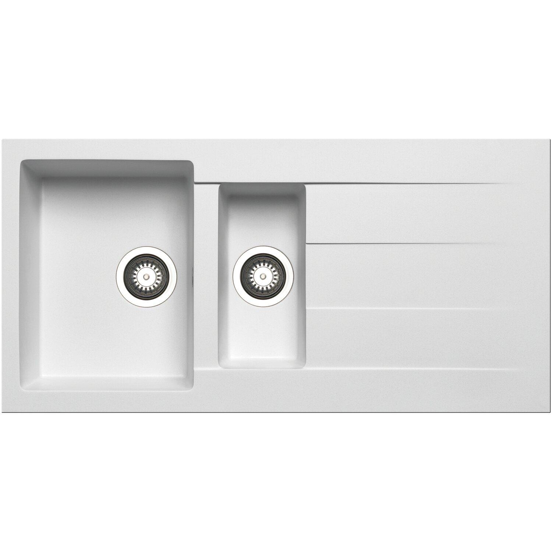 Küchenfreund Einbauspüle GN 105 Granite Snow | Küche und Esszimmer > Spülen > Einbauspülen | Weiß | Küchenfreund