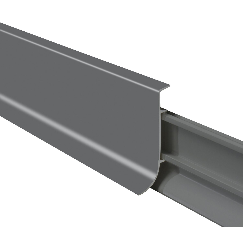 sockelleiste kunststoff klemmbar grau 60 mm x 18,5 mm x 2500 mm